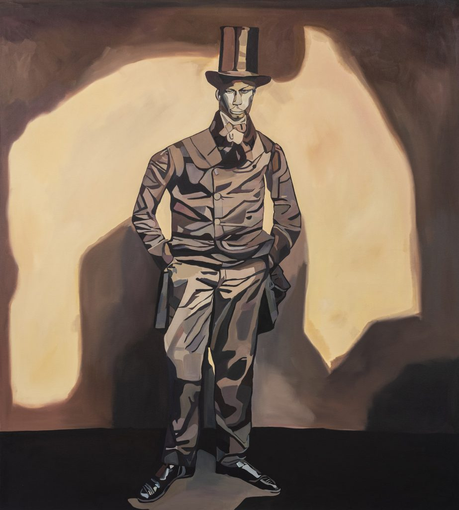 Joy Labinjo, Gentleman in top hat, 2020
